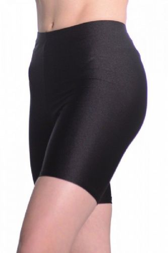 Roch Valley Cycle Shorts Shiny Nylon Lycra Black Dance Gym Freestyle Fitness